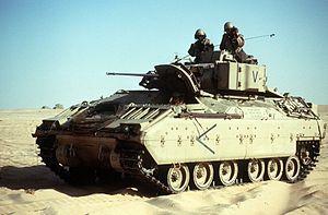 Bradley tank, unstrapped